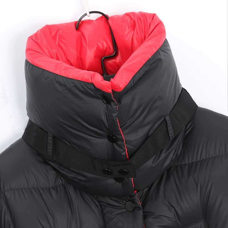 2020 Winter Long 90 %white duck down Coat Female Warm Parka fashion Women Down Jacket Warm Winter Jacket black Coats Tops YRF42 4