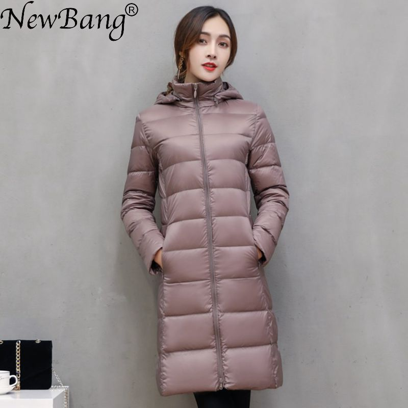 NewBang Brand Long Winter Down Jackets Women Down Jacket Female Long Windproof Warm Coat Winter Hooded Detachable Outwear 1