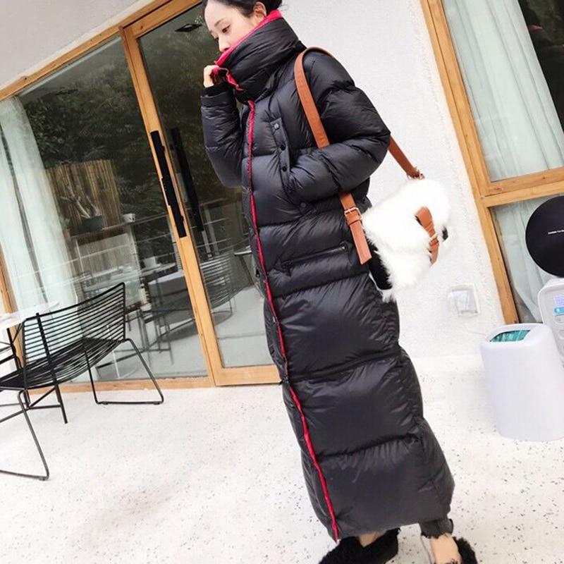 2020 Winter Long 90 %white duck down Coat Female Warm Parka fashion Women Down Jacket Warm Winter Jacket black Coats Tops YRF42 1