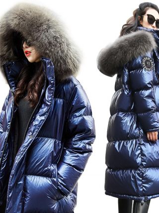 Jacket New Winter Coat huge Actual Fur Collar