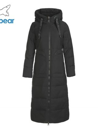 Winter lengthy girls's down jacket style heat