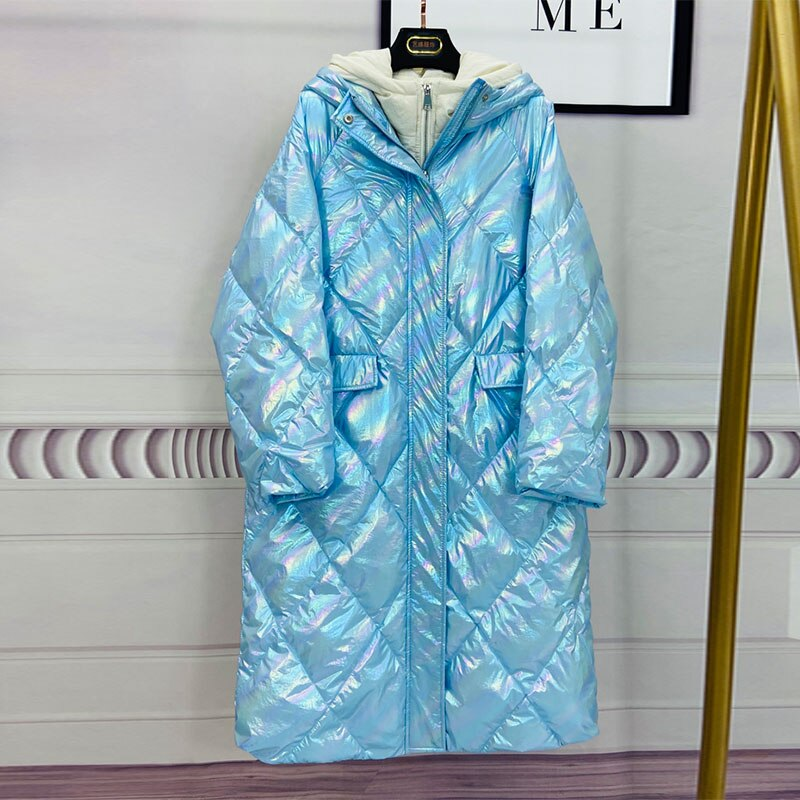 Hooded Girls Down Jacket New Arrival Lengthy Unfastened
