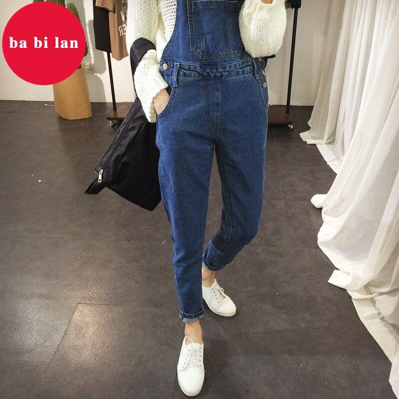2020 ba bi lan Women Jeans Jumpsuit Large Size Loose Casual Denim Rompers Womens Jumpsuits Wide Leg Casual Denim Overalls 1
