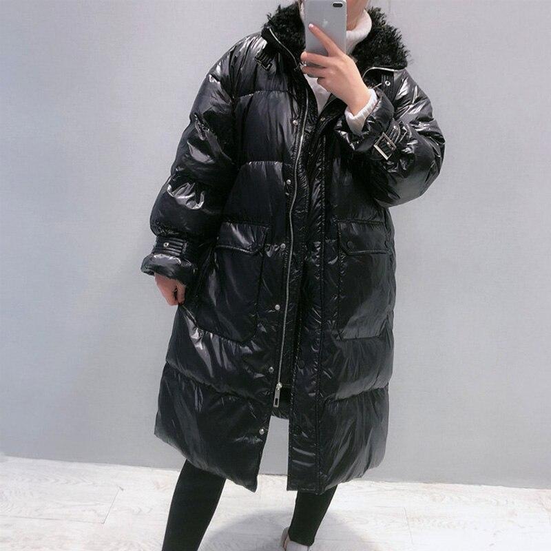 2020 Winter Long 90% White Duck Down Coat Female Thick Warm Parka Women Down Jacket Warm Winter Jacket Black Coats Outwear 3