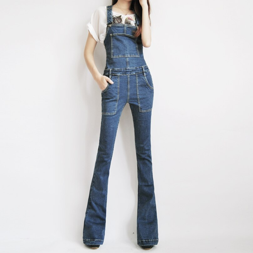 TIYIHAILEY Free Shipping Boot Cut Jeans Size 24-32 Pants Tall Women Overalls Jumpsuit And Rompers Denim Trousers With Zipper