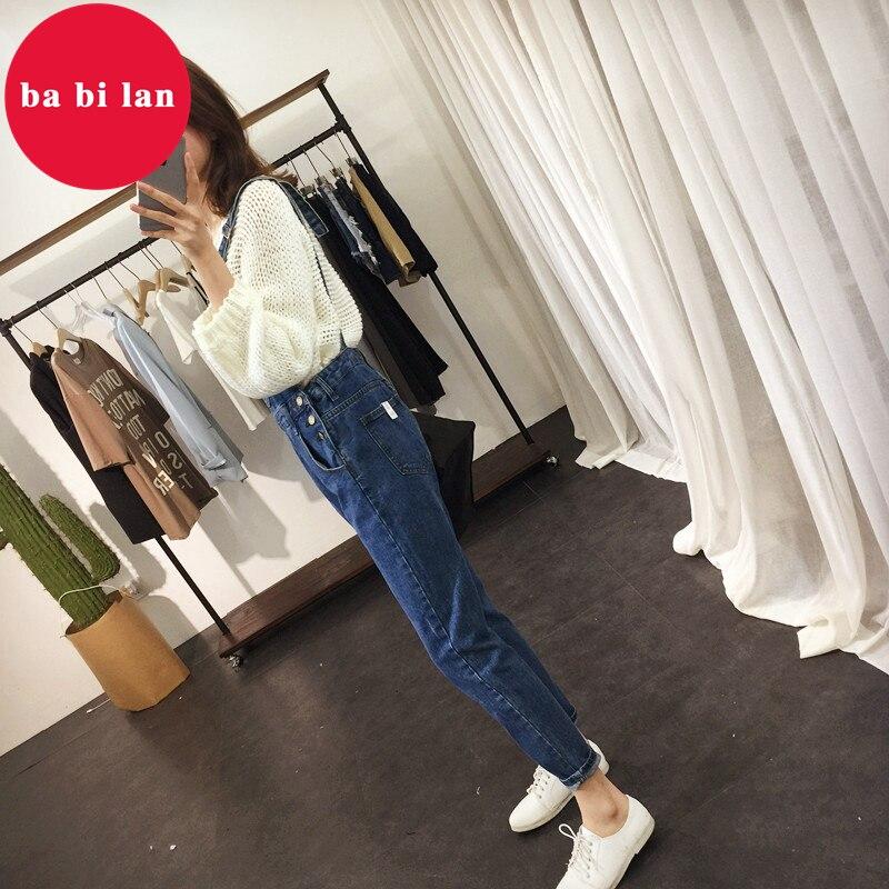 2020 ba bi lan Women Jeans Jumpsuit Large Size Loose Casual Denim Rompers Womens Jumpsuits Wide Leg Casual Denim Overalls 3