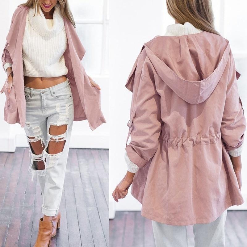 ZOGAA spring new womens jackets and coats Casual streetwear 5 colors Hooded windbreaker plus size S-3XL windbreaker women 1