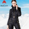 Ladies's Slim Match Jumpsuit 90% White Duck Down Jacket Waist