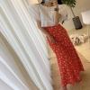 Classic Floral Girls Lengthy Skirt Print Chiffon