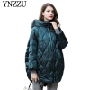 Hooded Women down jacket Winter warm long down coat
