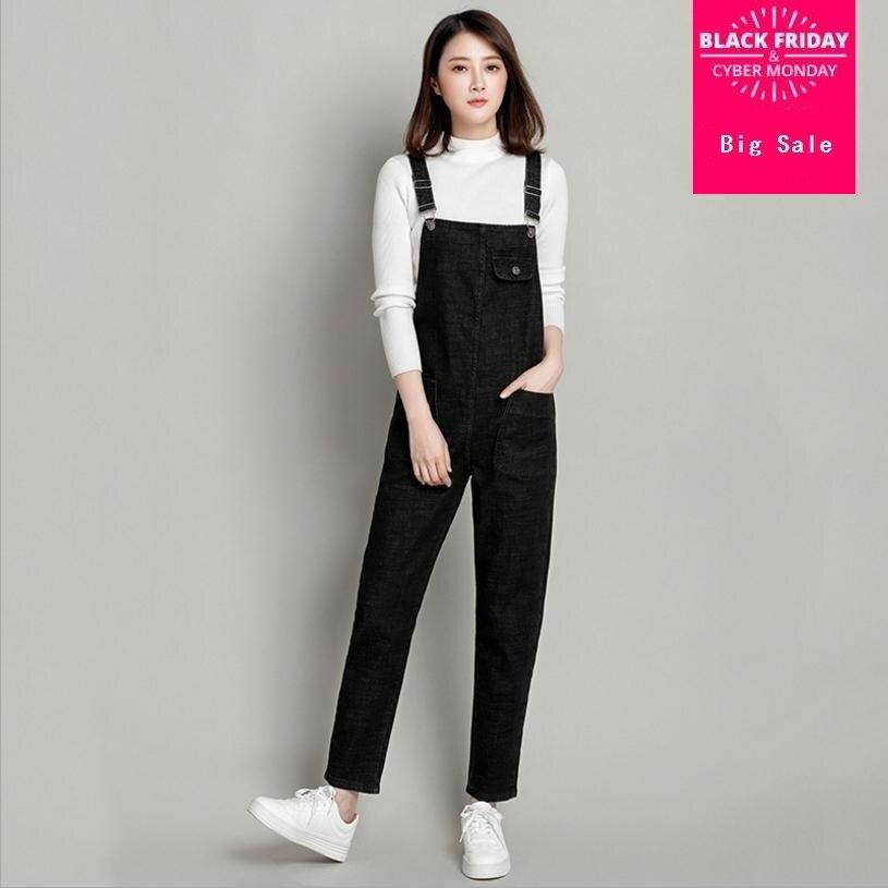 Jeans Fashion loose Plus Size S-3XL&4XL&5XL Pants Women Pencil pants Overalls Jumpsuit And Rompers Denim Trousers L95