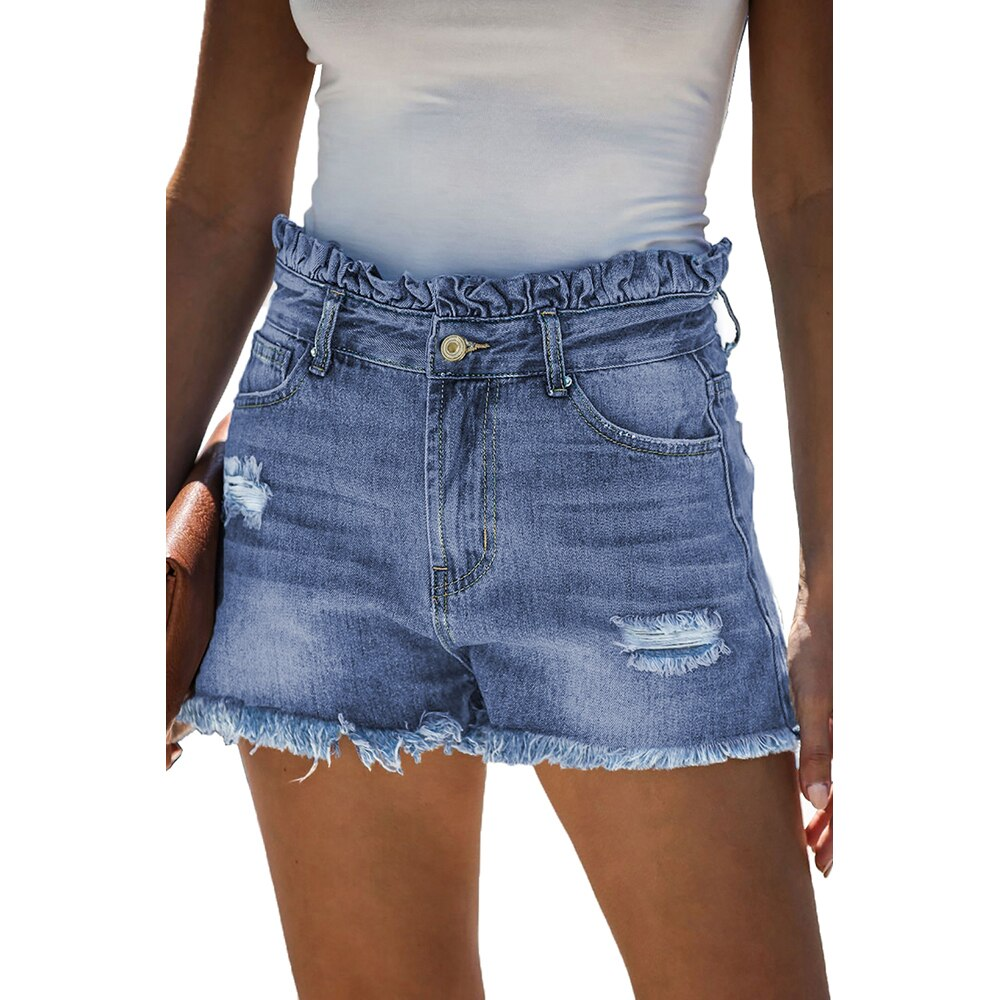 Women's Denim Shorts Jeans For Women Sexy Pants Streetwear Light Mid-Rise Women's Jeans Summer Cat Whiskers Bottom Street Trend 2