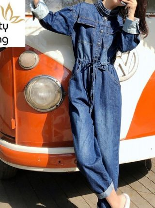 Cargo Overalls One Piece Sleeve Ladies Denim Free