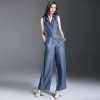 Spring Trend Womens Double Breasted Sleeveless Jumpsuits