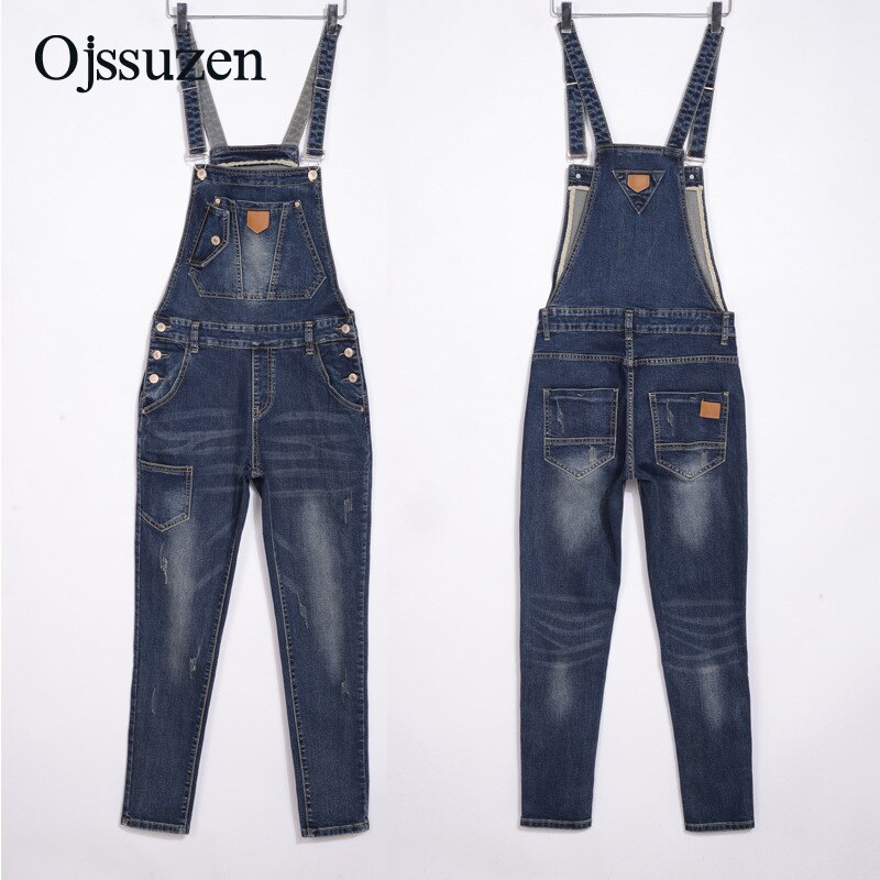 Spring Denim Jumpsuits Women Fashion Summer Romper Long Pants Elasticity Jeans Overalls For Women Jeans Bodysuits Ladies 4