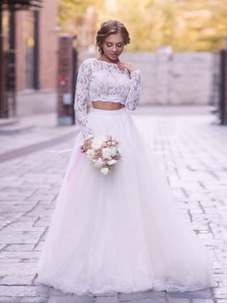 White Tulle Wedding ceremony Skirts elegant Excessive Waist