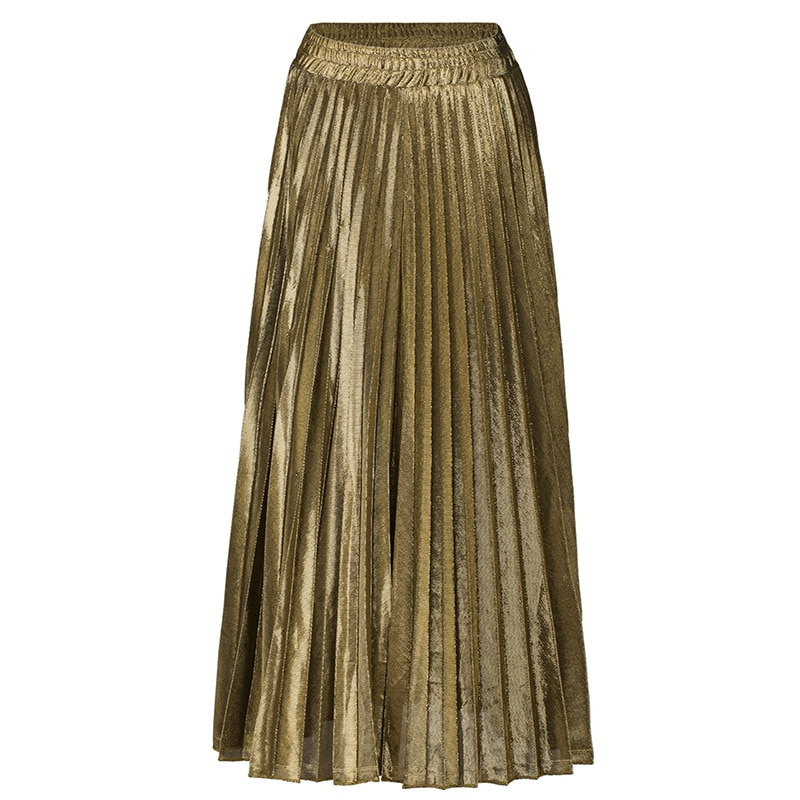 2020 Spring Women Long Skirts Fashion Brand A-Line Women Pleated Skirts High Waist Women Midi Skirt Faldas Mujer Saias 4