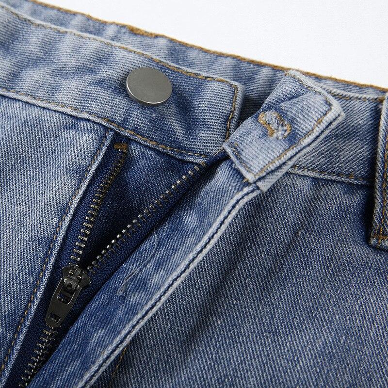 Women Trousers Pants Women Jeans Women's Overalls High Waist Jeans Clothes Women Wide Jeans Women Clothes 4