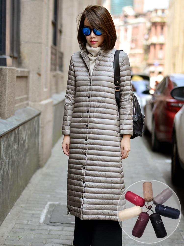 New Women's Down Jacket Coat Female 2020 Winter Down Jacket Women Coats X-Long 95% White Duck Down Coat Woman 3