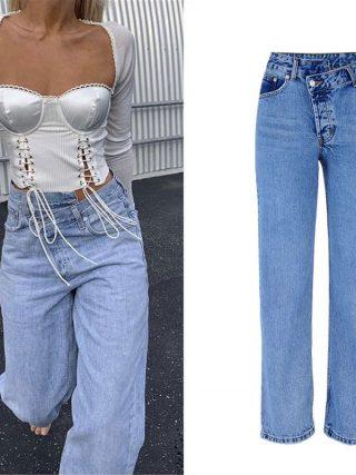 Excessive Waist Denims Girl Informal Free Girls Denim Pants