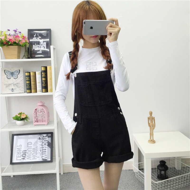 2016 Free shipping Summer Women Jeans Short Loose cowboy overalls shorts Big yards conjoined shorts BL06