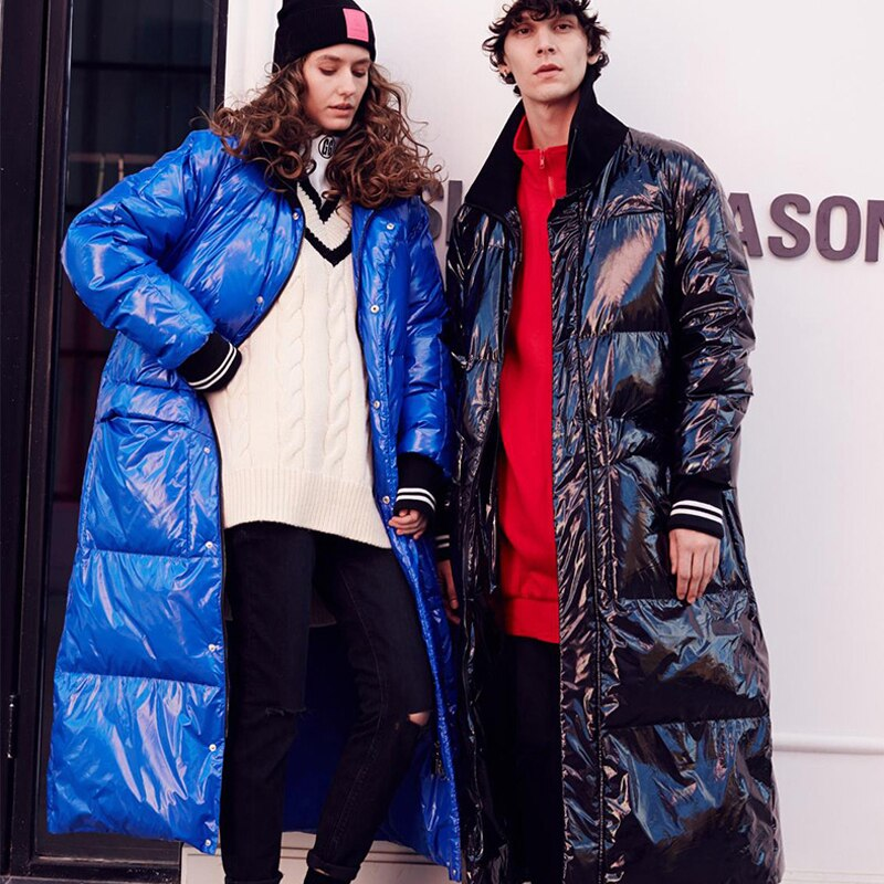 Winter New Fashion Listing Collection Women Warm Long Down Jacket Flash Parkas Plus Size 7XL Waterproof&Windproof