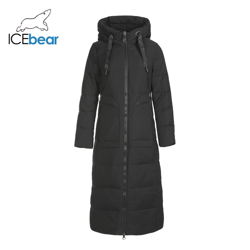ICEbear 2019 new winter long women's down jacket fashion warm ladies jacket hooded brand ladies clothing GN418275P 1