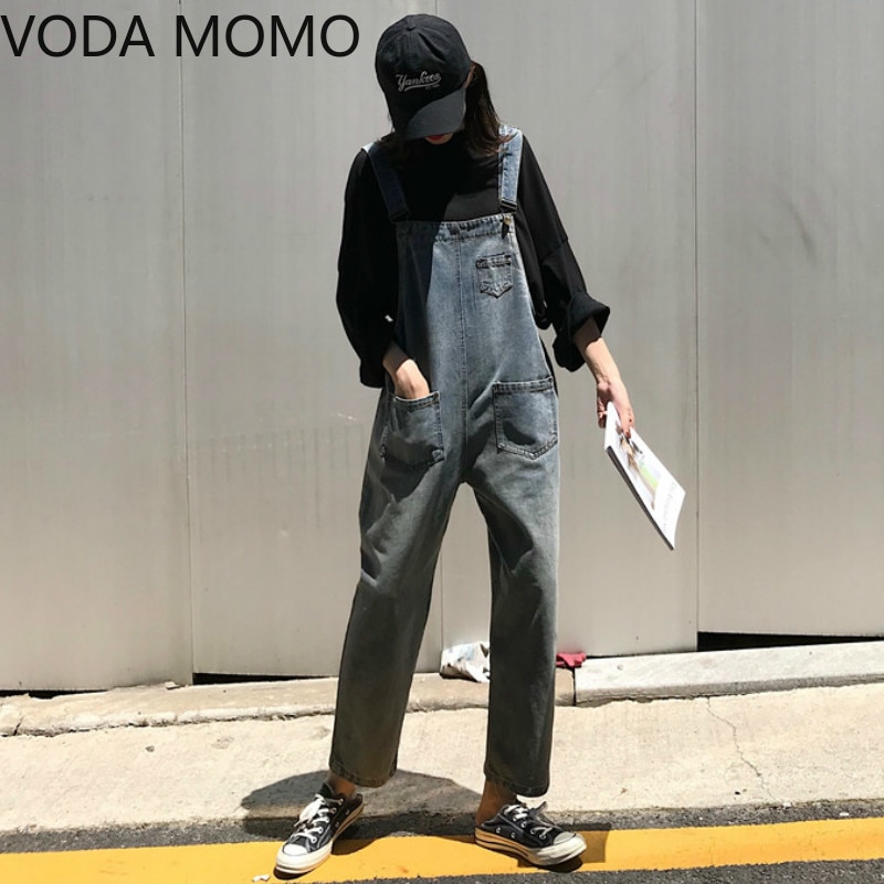 Women Clothing Sleeveless Denim Jumpsuit Women Overalls Jumpsuits loose Suspenders Jeans Women Overalls Female Rompers jeans 3