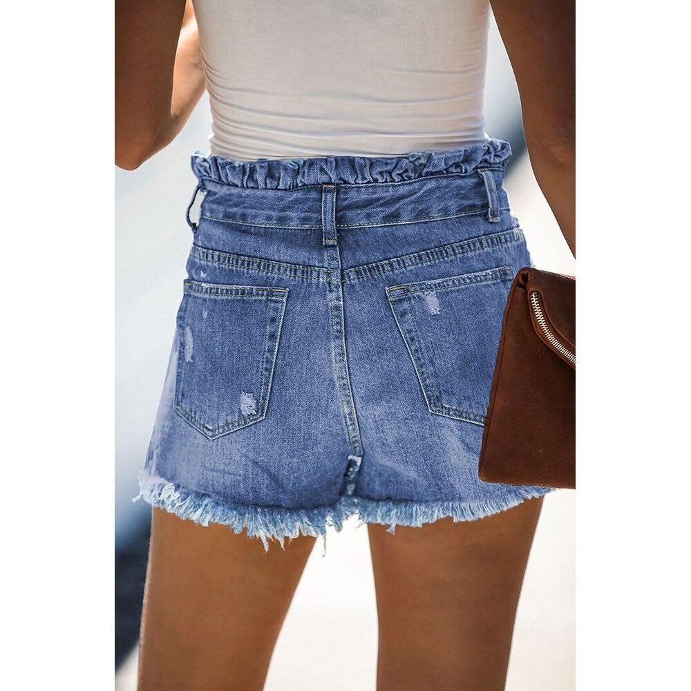 Women's Denim Shorts Jeans For Women Sexy Pants Streetwear Light Mid-Rise Women's Jeans Summer Cat Whiskers Bottom Street Trend 1