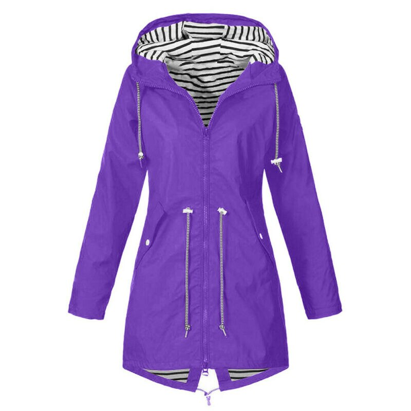 Women Jacket Coats Pure Color Waterproof Transition Jacket Outdoor Hiking Clothes Lady Lightweight Coat Streetwear Women Clothes 1