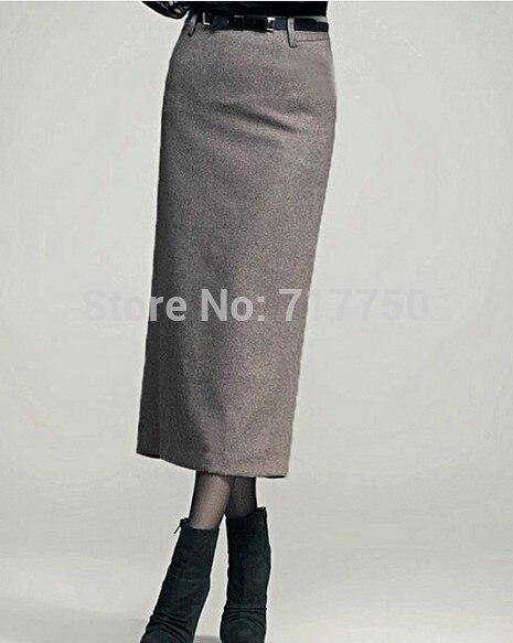 Autumn Winter Skirt Women Long Skirt Thick High Waist Pencil Skirt Ladies Elegant Slim Plus Size Woolen Skirts Women XS – 5XL 2