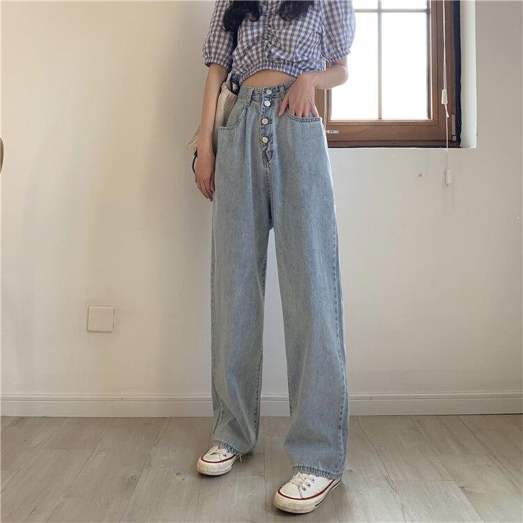 Wide Leg Jeans Women High Waist Straight Denim Pants Jeans Loose Plus Size Boyfriend Mom Jeans Vintage Summer 2020 Chic 3