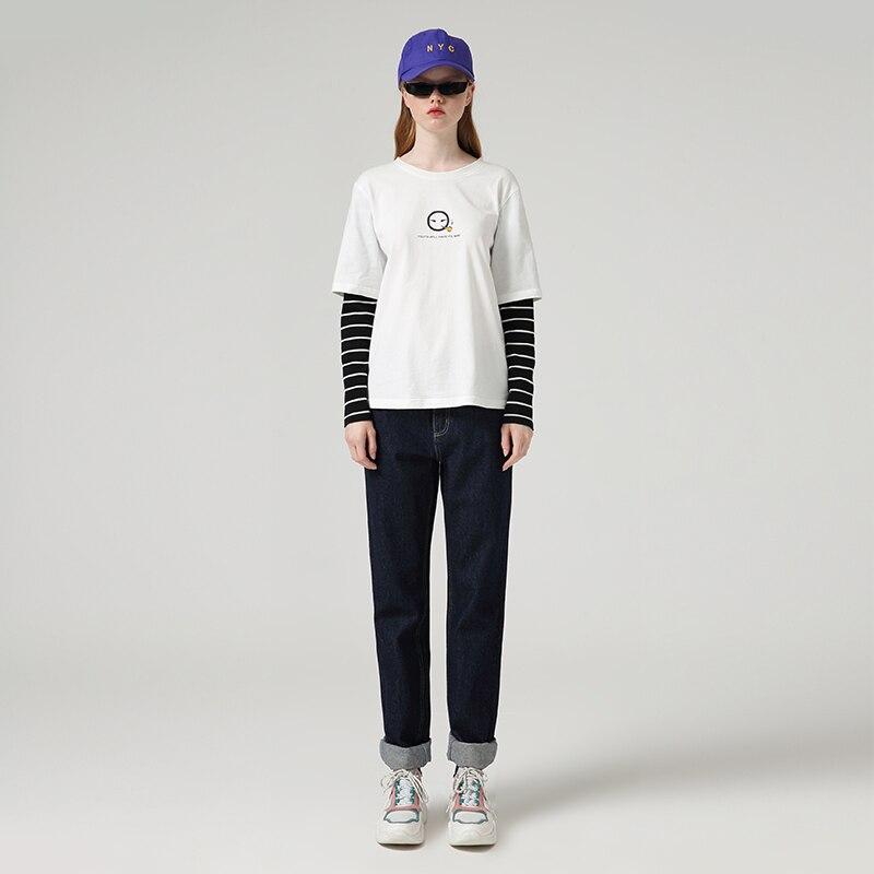 Toyouth Jeans Harem For Women Loose Vintage Harem Straight Jeans Pants High Waist Cotton Jean Female Boyfriend Denim Trousers 4