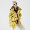 Toyouth Fashion Big Pockets Long Women Down Jacket
