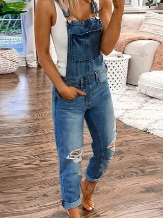 Ladies Overalls Denim Jumpsuit Bodysuit Summer