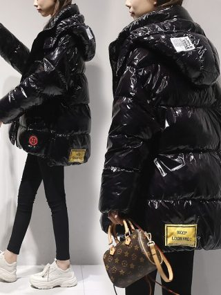 High quality Shiny Down Parkas Coat Winter Jacket