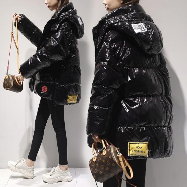 High quality Shiny Down Parkas Coat Winter Jacket