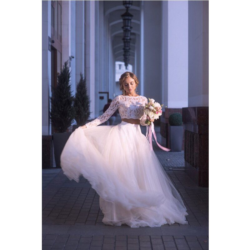 Soft White Tulle Wedding Skirts elegant High Waist Boho Beach Wedding Party Skirt Chic Overlap Women Long Maxi Skirts Plus Size 4