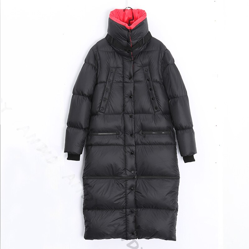 2020 Winter Long 90 %white duck down Coat Female Warm Parka fashion Women Down Jacket Warm Winter Jacket black Coats Tops YRF42 2