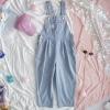 Harajuku Striped Denim Jumpsuit Ladies Romper Teenage