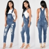 Denim Girls's Overalls Excessive Waist Ripped Denims Lady