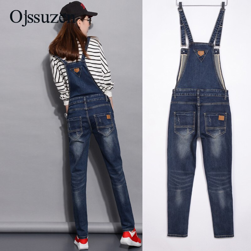 Spring Denim Jumpsuits Women Fashion Summer Romper Long Pants Elasticity Jeans Overalls For Women Jeans Bodysuits Ladies 1