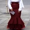 4XL 5XL Plus Skirts Autumn Winter Ladies