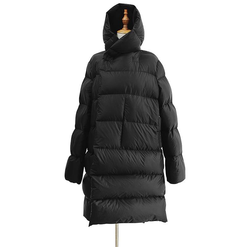 WSYORE Long Parka Women Black Down Jacket Female Winter New Dark Wind Long Down Coat Loose Hooded Warm Bread Jackets NS856 1
