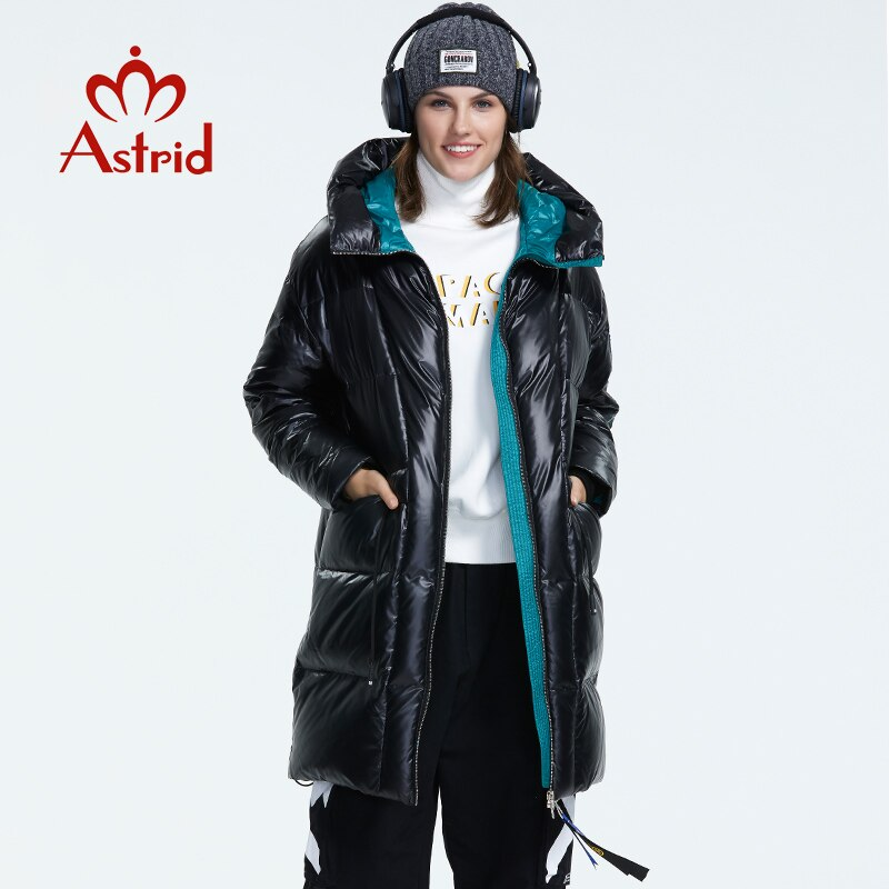 Prime shade with a hood down coat with zipper lengthy winter coat