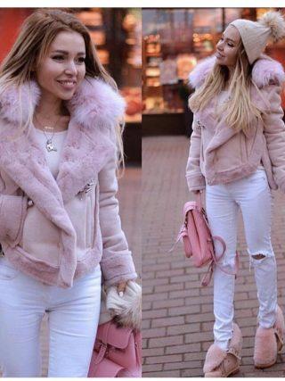 Winter Girls Jacket Synthetic Wool Slim Fleece