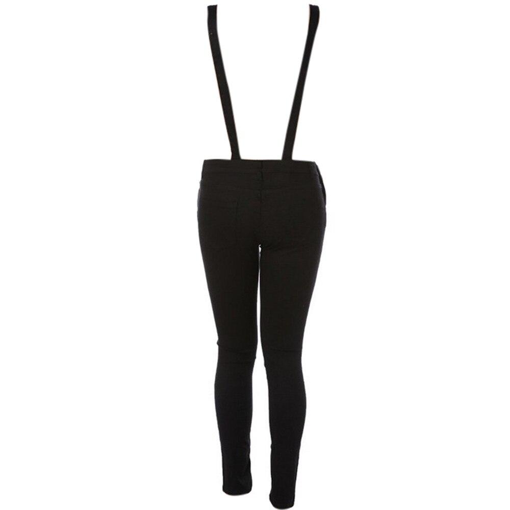 Free Ostrich Jumpsuit 2019 Women Loose Denim Bib Hole Pants Overalls Jeans Demin Trousers S40 2