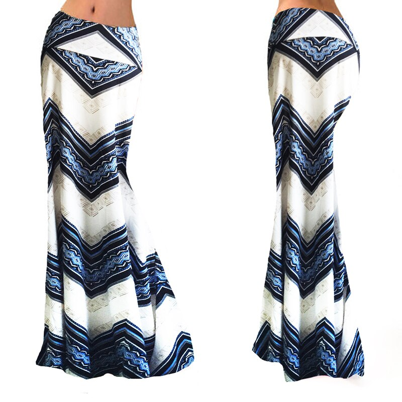 New Fashion Summer Sexy Women Long Skirts Vestidos Casual Striped Printed Womens High Waist Skirt Long Maxi Skirt Female 94270