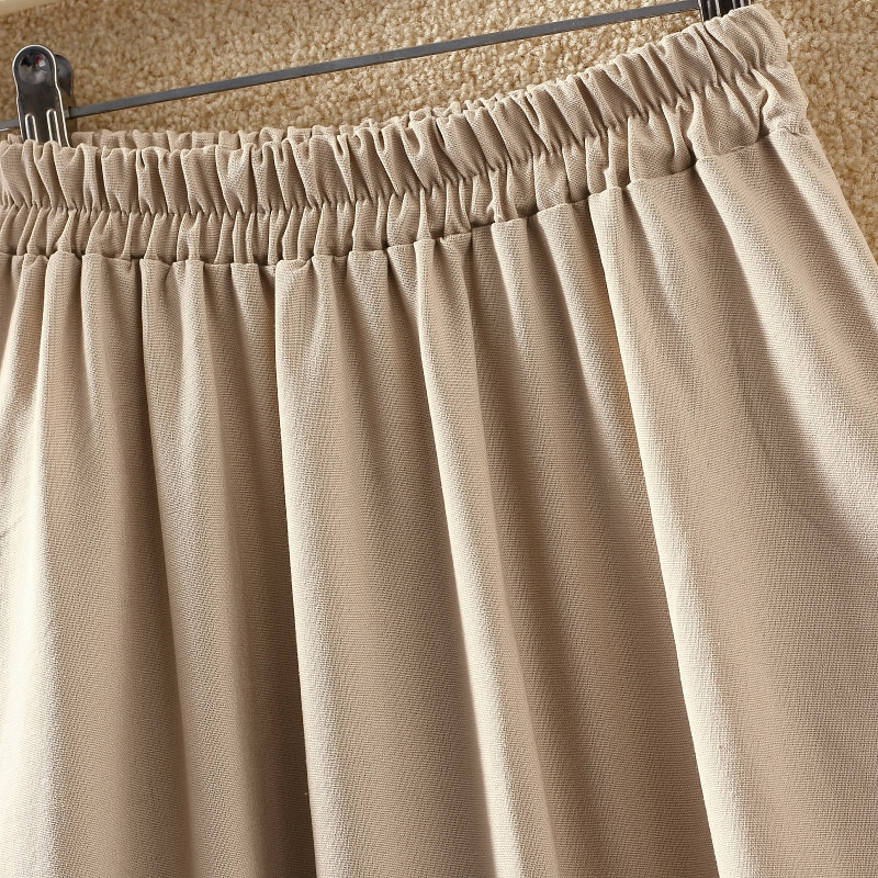 2019 Summer Women Long Skirts Vintage Cotton And Linen High Waist Women Skirts Saia Summer Skirt Womens Jupe Femme Saias Faldas 4