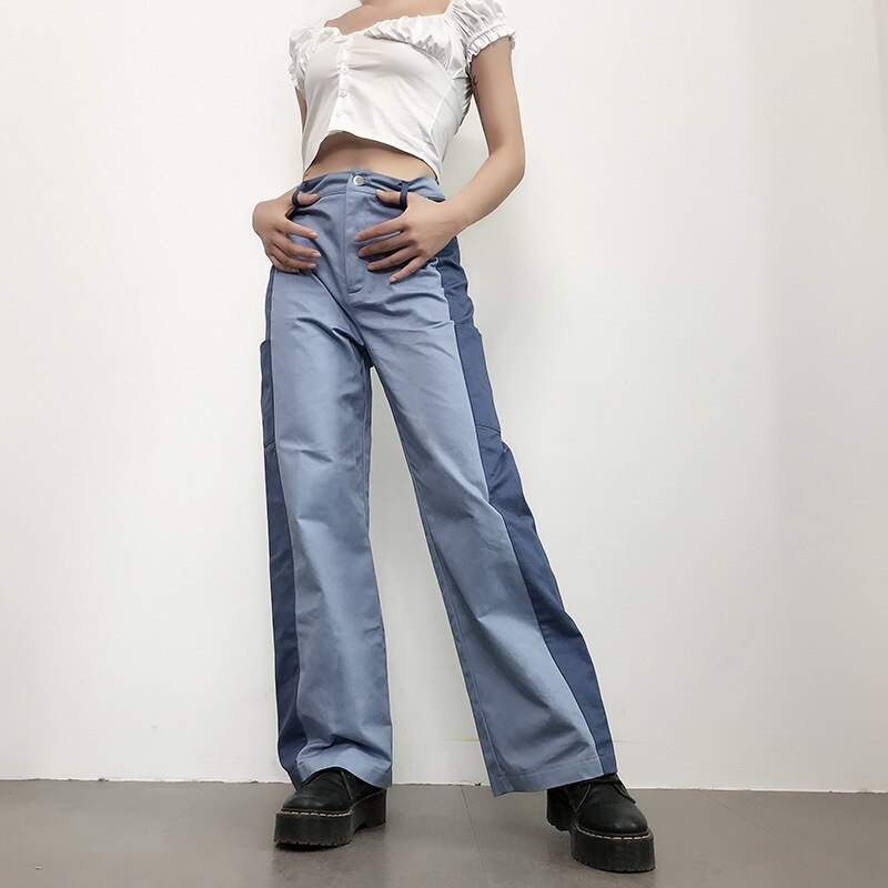 Women Trousers Pants Women Jeans Women's Overalls High Waist Jeans Clothes Women Wide Jeans Women Clothes 3